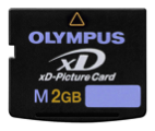 Olympus flash solid-state memory card